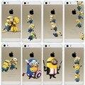 Для iPhone 5s Случае Супер Горячие Миньоны Дизайн Обложки Для iphone 5 5S SE Капа Hard Прозрачный Коке Fundas Для iphone5 5S