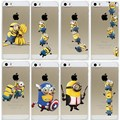 For iPhone 5s Case Super Hot Minions Design Cover For iphone 5 5S SE Capa Hard Transparent Fundas For iphone5 5S Coque
