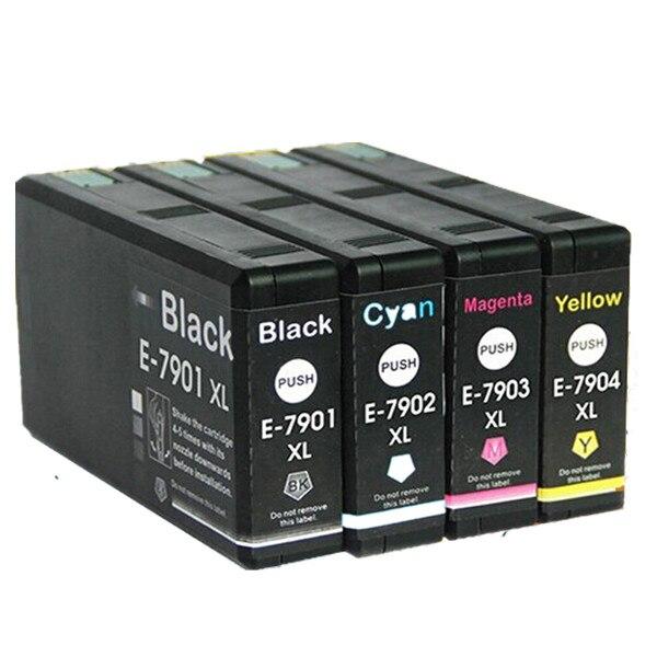 T7911 T7901 E-7901 E7911 Ink Cartridges For Epson WorkForce Pro WF-4630DWF WF-4640DTWF WF-5110DW WF-5190DW WF-5620DWF WF-5690DWF