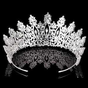 Image 4 - التيجان والتيجان HADIYANA الكلاسيكية موضة جديدة تصميم الزفاف إكسسوارات الشعر الذكرى الزفاف النساء BC5070 كورونا برينسيسا