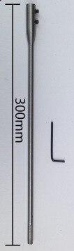 12 tolli / 3 300 mm pikkune puitterasest labidas / puurvarda puurvarda pikendus