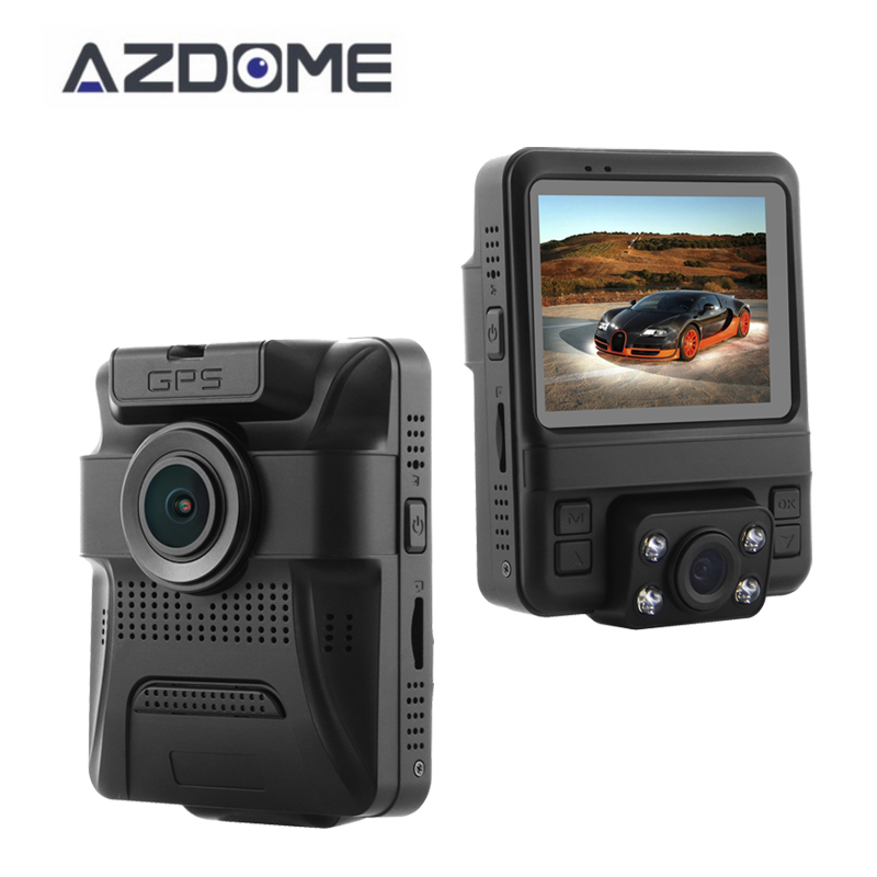 Azdome GS65H Mini Dual Lens Car DVR Camera 1080P Full HD Dash Cam Novatek 96655 Video Recorder G-sensor Night Vision gs 6301 hd купить во владимире