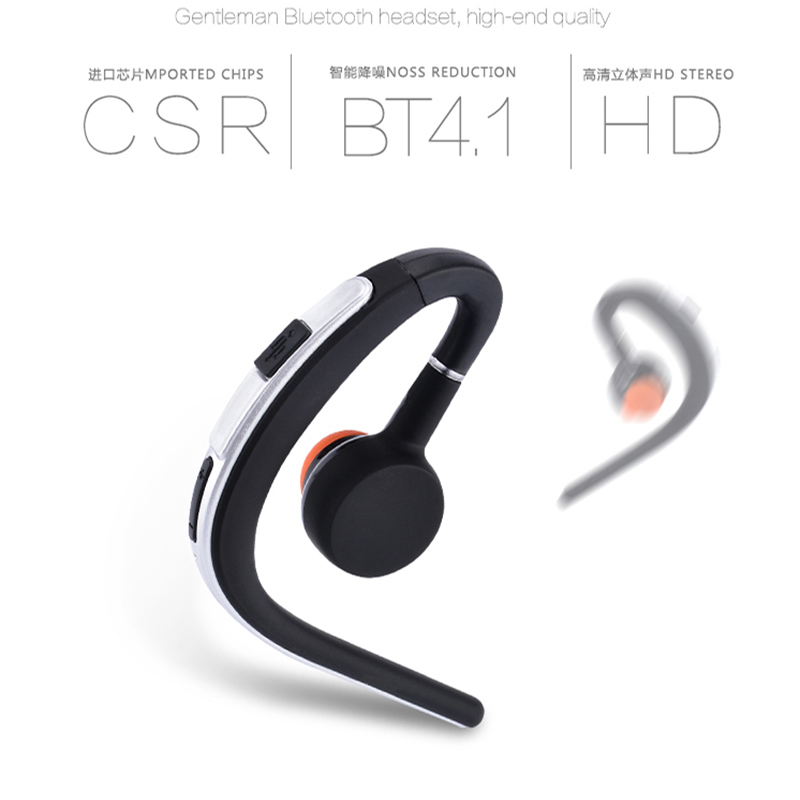 Wireless Bluetooth Headset with Microphone for iPhone Samsung Music Handsfree Business Bluetooth Earphones Noise Cancelling wireless bluetooth headset mini business headphones noise cancelling earphone hands free with microphone for iphone 7 6s samsung
