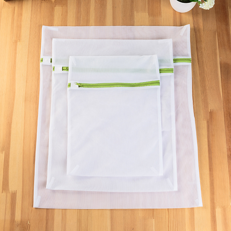 High Quality Thick Green Zipper Mesh Underwear Socks Laundry Bag Durable Protection Delicate Underwear