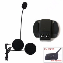 2017 Motorcycle Intercom Accessories 3.5mm Jack Microphone Speaker Earphone Replacement for Vnetphone V4 V6