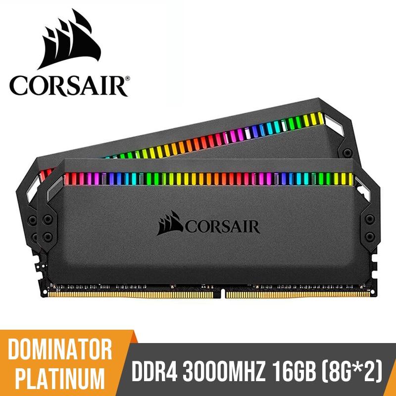 CORSAIR RAM 32GB 64GB 128GB Dominator Platinum RGB Series Memoria RAM DDR4 16GB 2*8GB DRAM 3000 3200 3600 4800MHz for Desktop