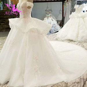 Image 2 - AIJINGYU Hochzeit Kleider Schweden Rustikalen Kleid Preise Auf Plus Größe Rabatt Kleider Plus Größe Hochzeit Kleid Mit Zug