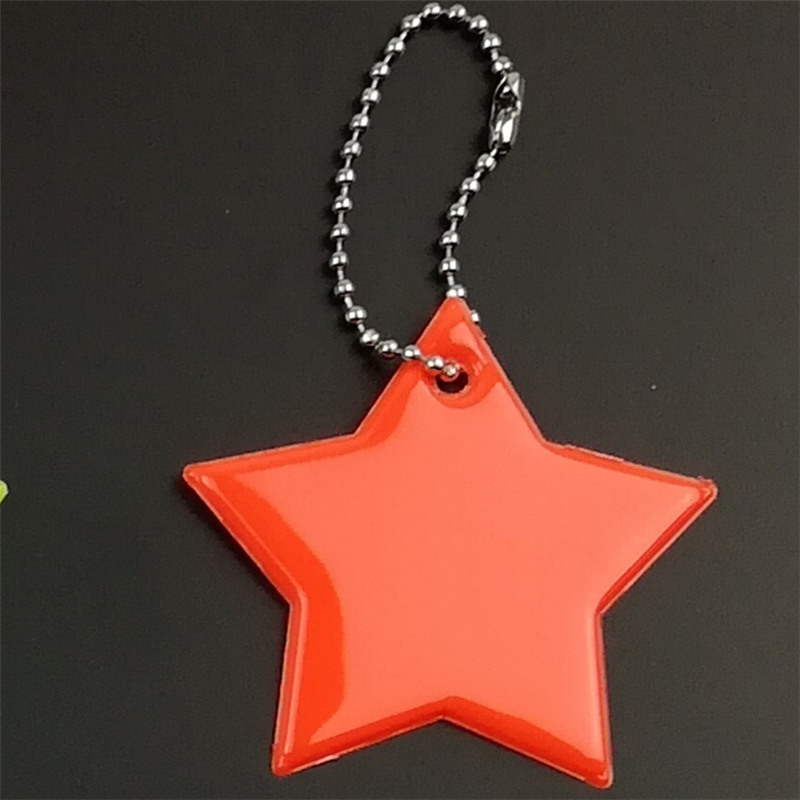 Маленькая звезда сумка брелок милый мягкий ПВХ отражающий брелок, подвеска для машины Шарм сумка Аксессуары для безопасности дорожного движения использования - Название цвета: big red