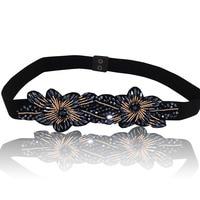 2017 New Fashion Girls Belt Female Beads Belts Women Luxury Rhinestone Strap Elegant Women S Girdle