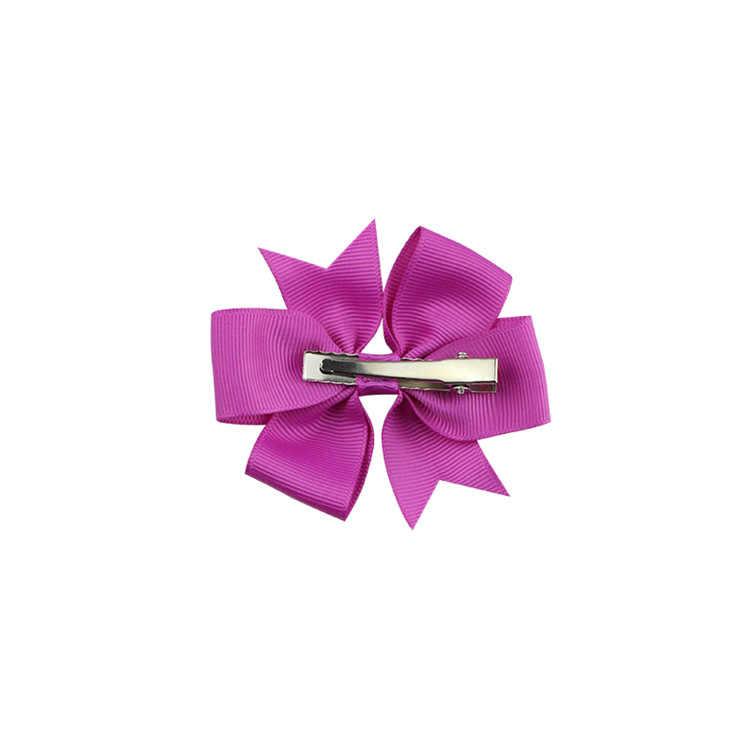 1 pcs สีทึบริบบิ้น Bows คลิป Hairpin สาวผม bows ผมคลิป Headwear สำหรับเด็กน่ารัก Babby ผมอุปกรณ์เสริม #5034