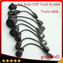 Грузовик Диагностический инструмент кабеля TCS cdp PRO plus СКАНЕР разъем грузовик 8 кабели для VD600 cdp +, НИЧЕГО СЕБЕ диагностики инструмент соединительный кабель
