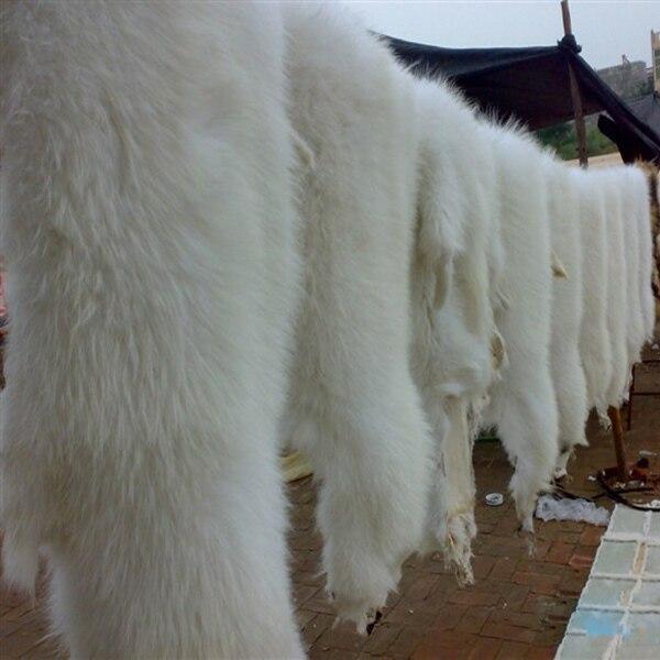 Peau de fourrure de raton laveur blanc peau de fourrure de raton laveur réelle - 2