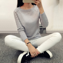 Autumn Winter Wool o-neck Turtleneck Women Sweaters  Female Sweater Long Sleeve Jumper White Black Gray Knitted pullovers