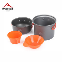 Widesea Camping Tableware Cup Bowl Outdoor Cooking Set Camping Cookware Travel Tableware Pincin Set Hiking Cooking