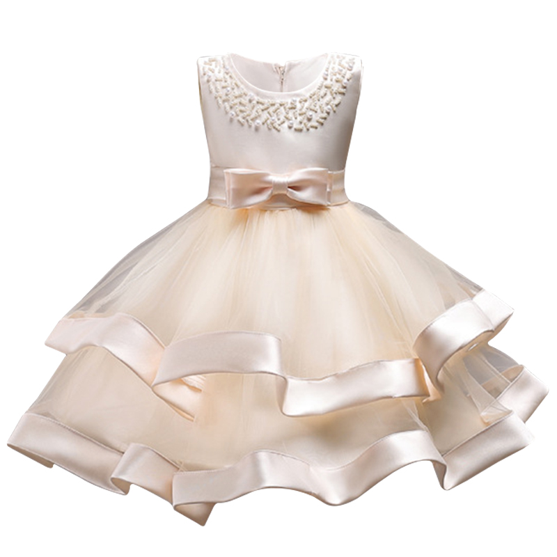 Girls Princess Dresses For Children Clothing 2018 Summer Kids Flower Party Dress Girls Wedding Dress For Girl Clothes Vestidos kids flower girl dress for party and wedding dresses girls sleeveless princess dress 2018 new summer 3 14 yrs children clothes