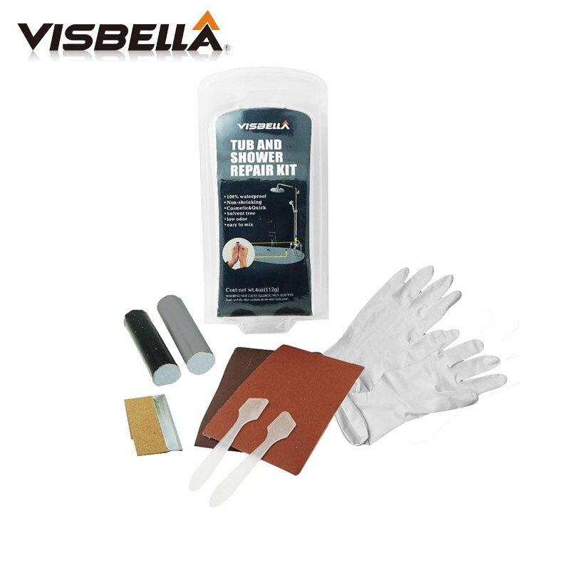 Visbella DIY Tub And Shower Repair Kit Bath Crock Repair Glue Powerful Reinforcing Rapid Fix General Purpose Super Fsat Dry Glue