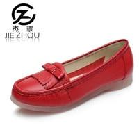 2018 נעלי אמא החדש רכות תחתונה עור בגיל עמידה של נשים גודל גדול לבן 41 נעלי אחות נעליים שטוחות של 43 נשים נעלי