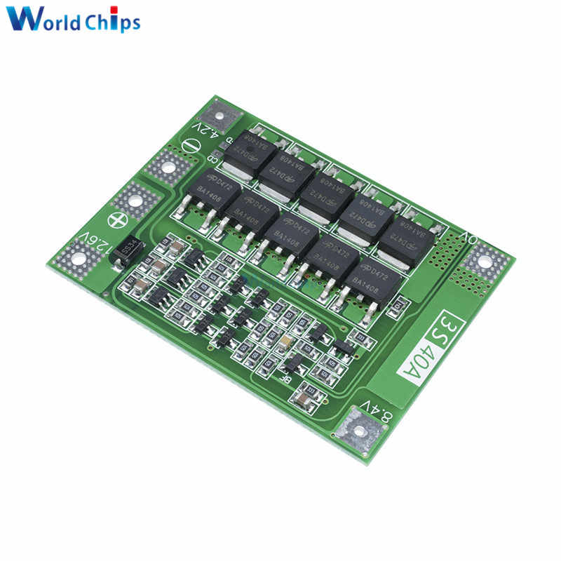 3S 40A 11.1V 12.6V 18650 Lithium Battery Charger Protection Board PCB BMS for Drill 40A Current Lipo Cell Module Enhance Version