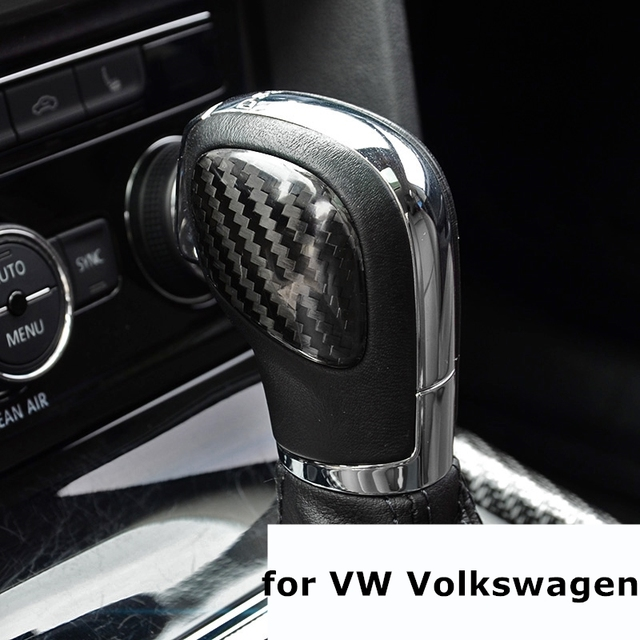 Dsg Car Gear Shift Knob Panel Cover Carbon Fiber Stickers For Vw