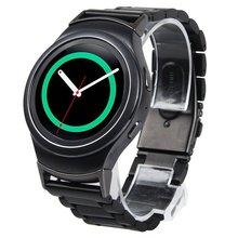 V-moro banda de banda de acero inoxidable para el engranaje s2 deportes además de correa de reloj pulsera para samsung gear s2 reemplazo r720