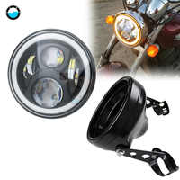 1 set 7 Inch 80W DOT SAE E9 Motorcycle 883 Headlamp with   7 inch LED Headlight Motorcycle Mounting Headlight Shell