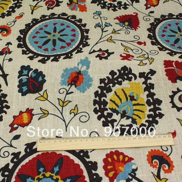 138cm Wide 4meters Mediterranean Style Linen Cotton