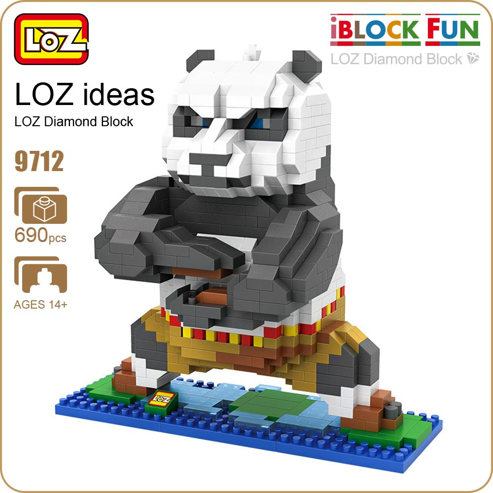 LOZ Diamond Block Animal Figures Toys Kawaii Cute Cartoon Mini Panda Figure Anime Building Assembly Toys Bricks Nano Blocks 9712 loz 9402 transformation optimusprime diamond bricks minifigures building block best legoelieds toys