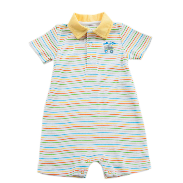 100 Cotton Baby Romper Short Sleeves Baby Boy Clothing Summer