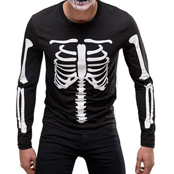Skull Black Long-Sleeve T Shirt men