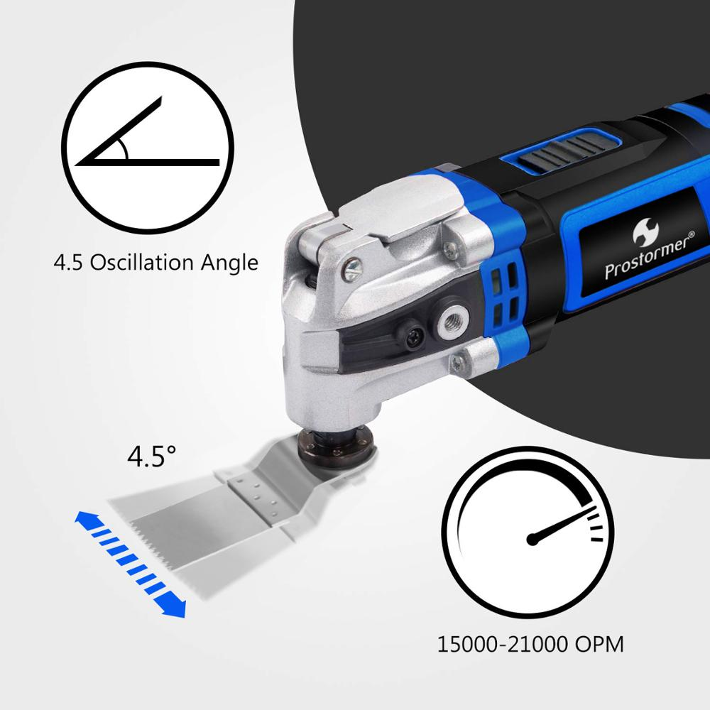 Image 4 - Prostormer Variable Speed Renovator Electric Multifunction tool Oscillating Kit Multi Tools Home Decoration Trimmer Electric Saw-in Oscillating Multi-Tools from Tools on