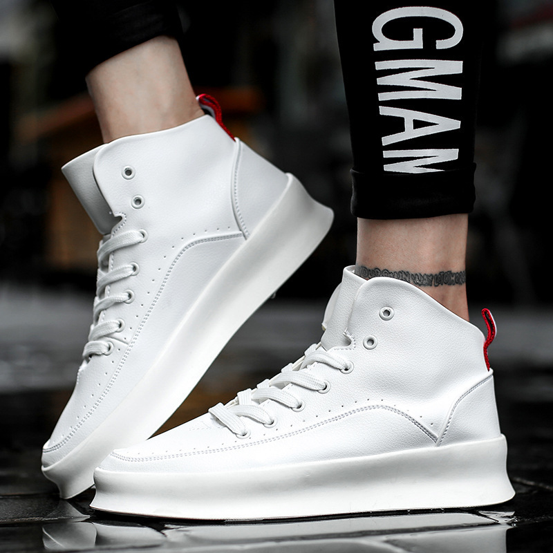 Men running shoes High quality men sneakers breathable PU leather men high shoes white warm winter autumn sport shoes men nike men s indee high shoes athletic sneakers leather white