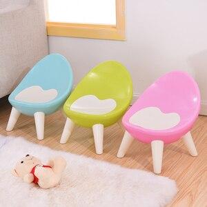 Image 1 - Spożywczy gruby plastikowy materiał przyjazny dla środowiska krzesło dziecięce stołek dziecięcy mały taboret meble dziecięce