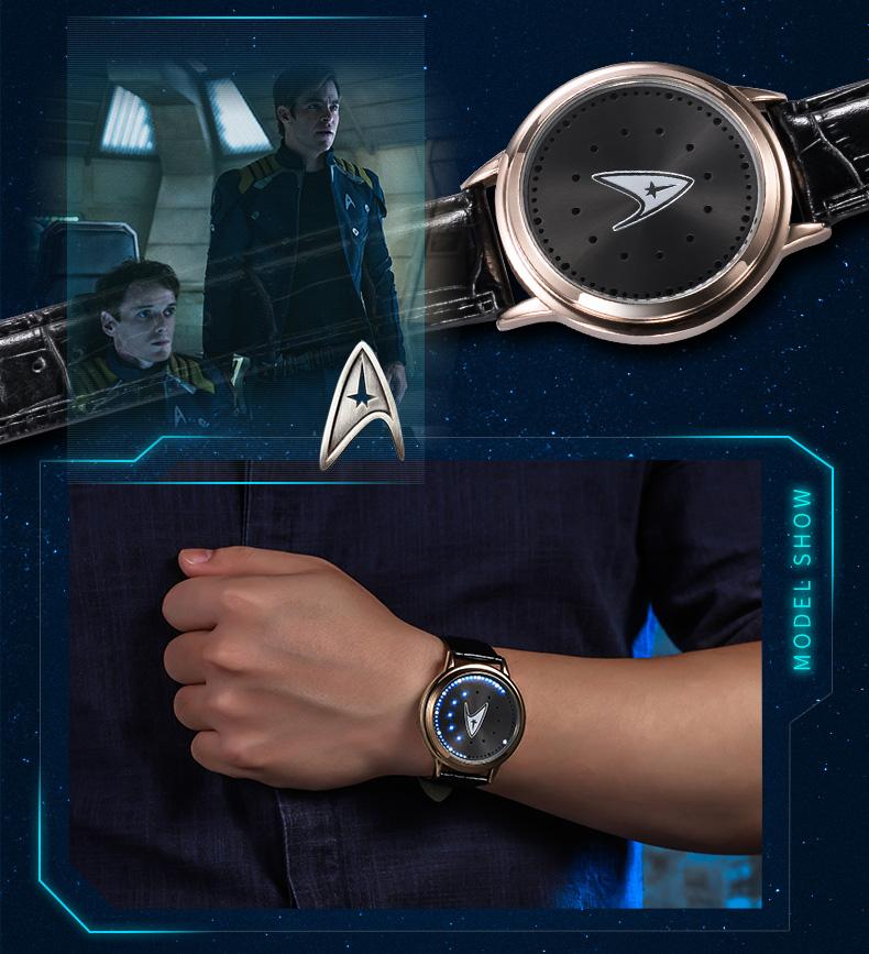 STAR TREK Models Spock Starfleet Spock LED waterproof touch screen watch hot tv series Christmas Gift 5