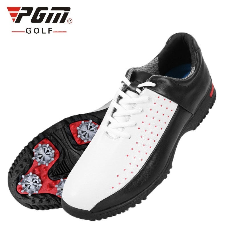 Pgm Golf Shoes Men Sports Shoes Breathable Male Sports Shoes Lace Up With Spikers Anti Slip