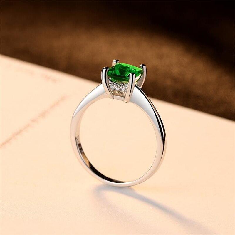 Ataullah Natural Emerald 925 ստերլինգ արծաթե - Նուրբ զարդեր - Լուսանկար 3