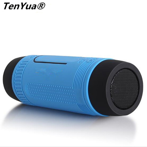 TenYua Bluetooth Speaker Outdoor Bicycle Portable Subwoofer Bass wireless Speakers Power Bank+LED light +Microphone+FM Radio Lahore
