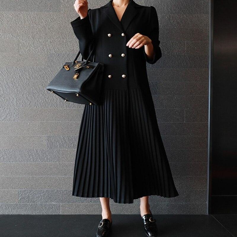 خريف فستان المرأة نمط