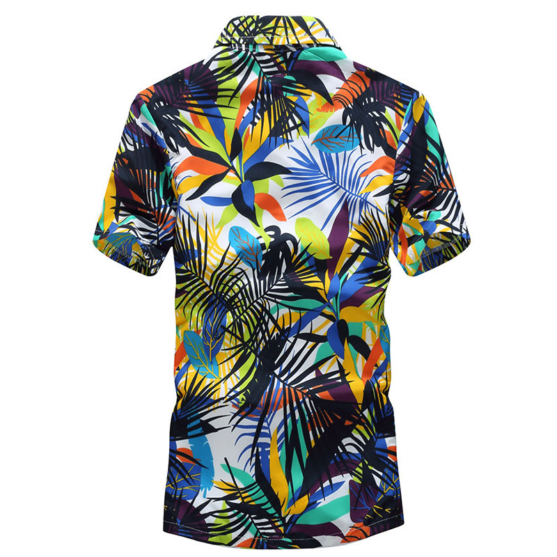 2019 new hot Harajuku men 39 s fashion shirt Mens Hawaiian Shirt Male Casual Printed Beach Shirts Short Sleeve brand clothing in Casual Shirts from Men 39 s Clothing