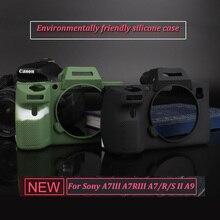 Силиконовая резина Чехол Камера сумка защитный чехол для sony A7 III A7RIII A7III A7M3 A7R3/A9/A7R a7 II 2 A7MII A7S2 A7RII