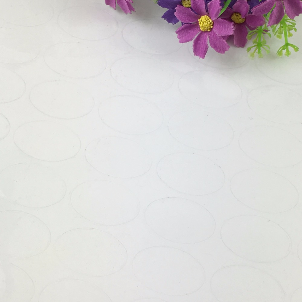 5000PCS/Lot 3.5x2.3cm Fashion Ellipse transparent paper Labels sealing Stickers packaging For Jewelry/Box/gift/car/envelope