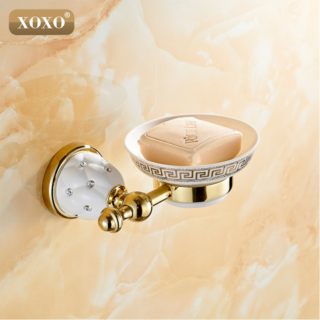 xoxo furniture dining room xoxonew golden finish brass soap basket soap dishsoap holder bathroom products