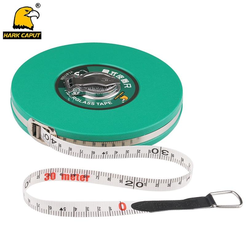 Glass Fibre Measuring Tape 10/15/20/30/50M Measuring Tape Retractable Flexible Ruler Metric Gauge Measuring Tools
