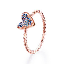 Clear Heart Crystal Zircon Wedding Ring with Paved AAA Cubic 100% Real 18K Gold For Women Gift 1.78G