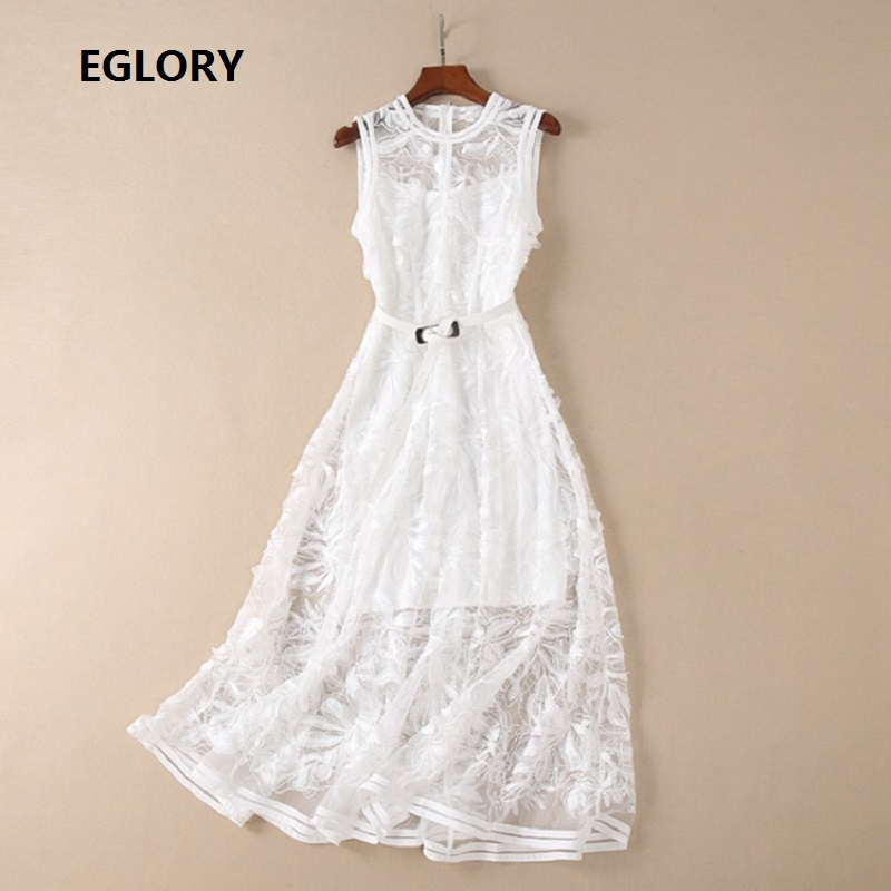 Desses Vestido Wedding Ladies Lux Allover Embroidery Sleeveless A-Line Party Woman Special Occasion Wedding Guest Dress Female