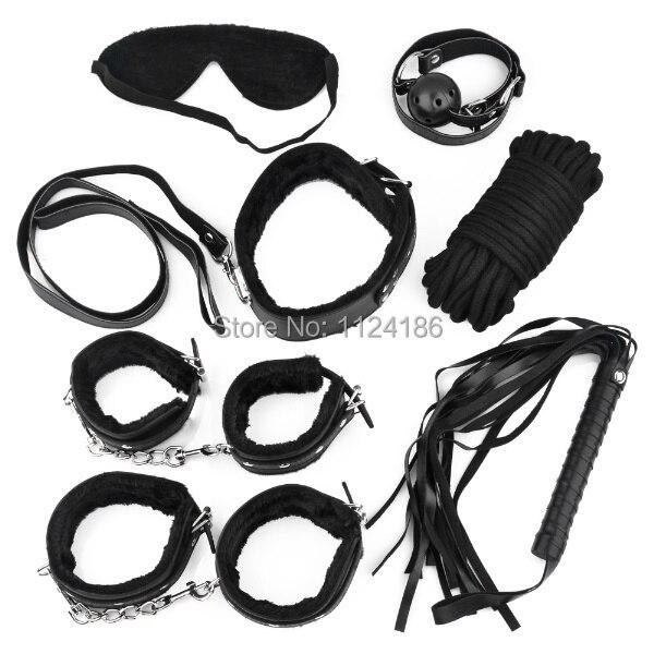 Sex Toys 7pcs Set Sex Tools Super Seduction Faux Leather System