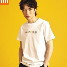 Xiaomi trend Features Short sleeve printed T-shirt Perspiration Breathable Bacte
