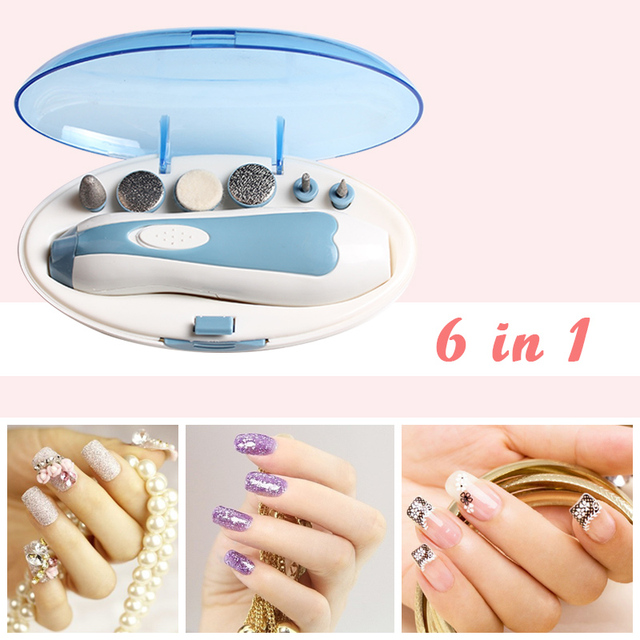 Professional Manicure Nail Art Tools 6 in 1 Multifunction Salon ...