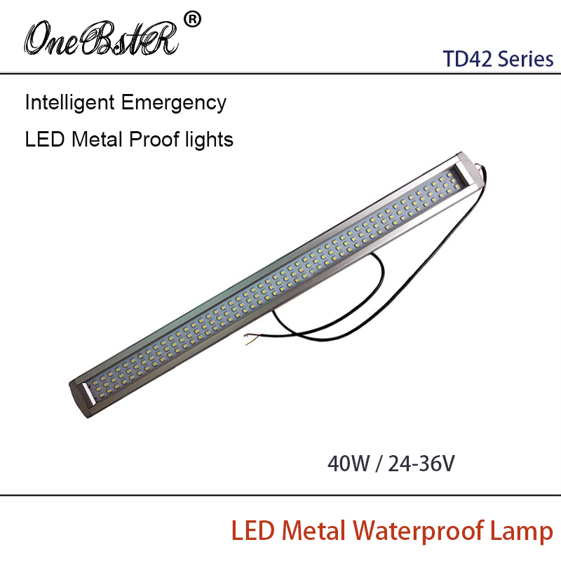 HNTD 40W DC24V/36V Intelligent Emergency LED Metal Proof lights Built-in Lithium Battery Waterproof IP67 Wall light High quality