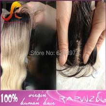 Two tone1b/613 body wave brazilian hair lace closure4X4 in stock