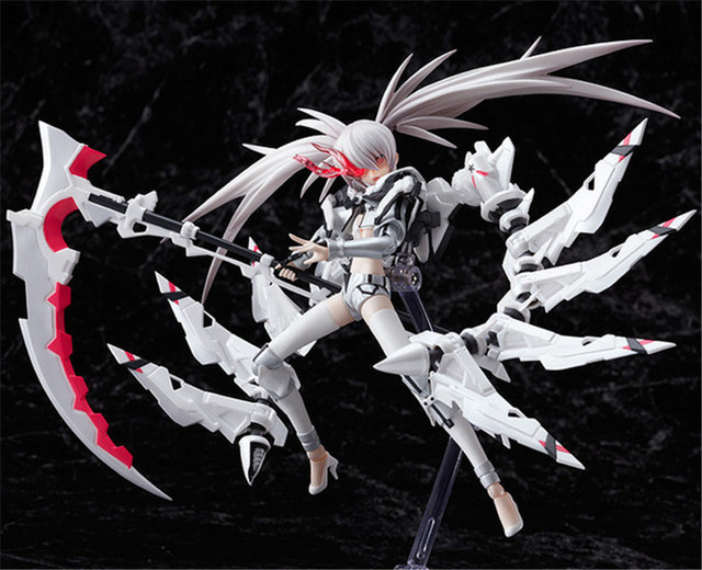 NEW 19cm White Rockshooter Black Rock Shooter the Game Figma PVC Action Figure Model Anime Brinquedos Toys Free Shipping 4